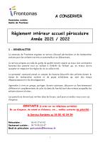 Reglement intérieur 2021-2022